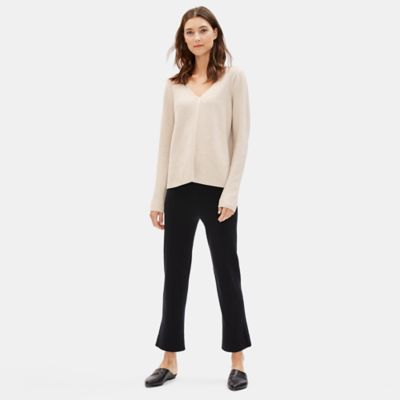 Fine Organic Cotton Silk V-Neck Top