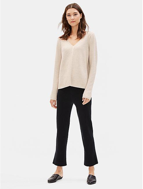 Fine Organic Cotton Silk V-Neck Top