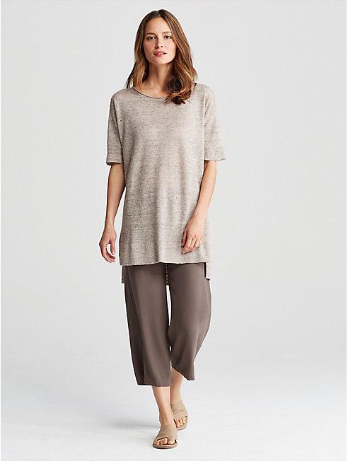 Linen Melange Links Tunic