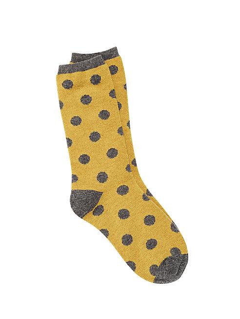 Cozy Viscose Blend Dot Sock