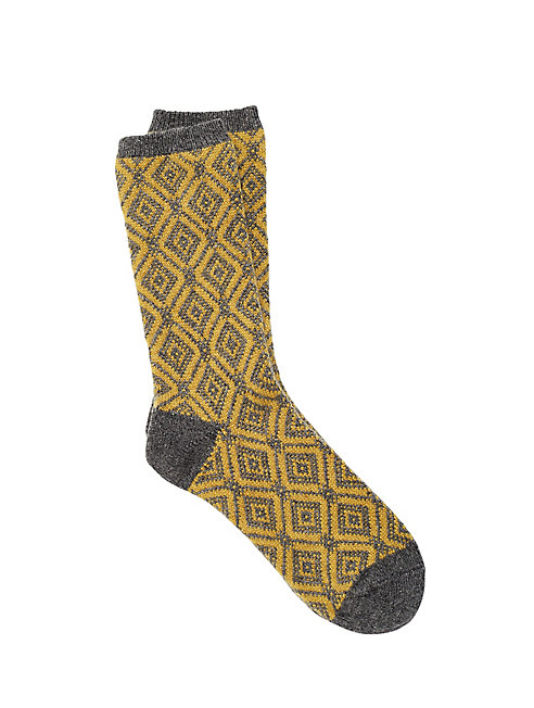 Cozy Viscose Blend Diamond Sock