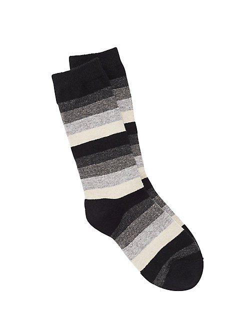 Cozy Viscose Blend Stripe Sock