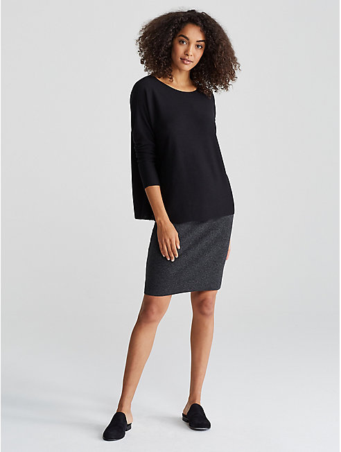 Seamless Featherweight Luxe Merino Box-Top