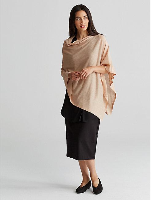 Silk Organic Linen Poncho