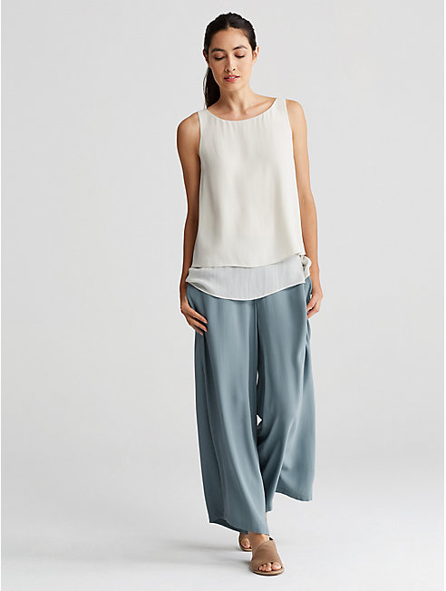 Bluesign® Certified Silk Wide-Leg Pant
