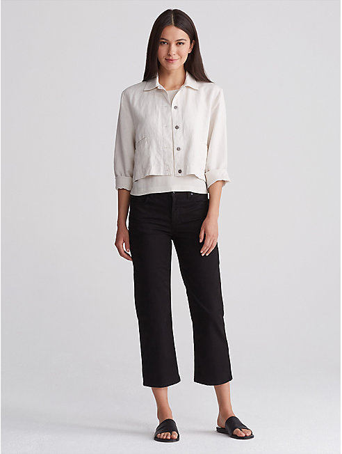 Organic Cotton Wide Cropped Jean