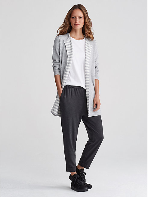 Reversible Organic Cotton and Cashmere Cardigan