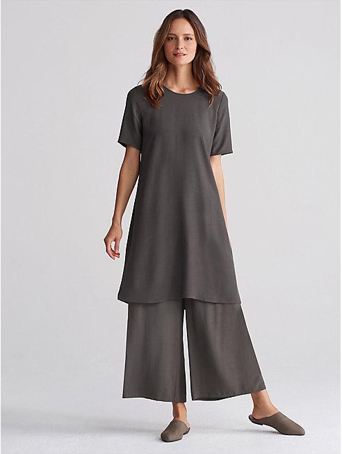 Tencel Viscose Crepe A-Line Dress