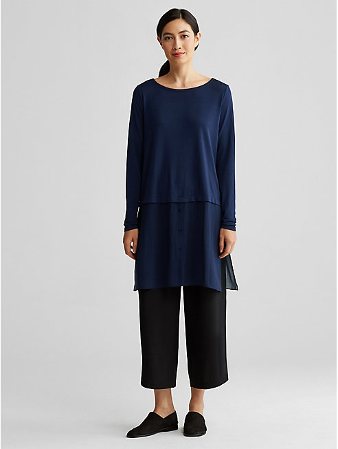 Bluesign® Certified Silk-Blocked Tunic