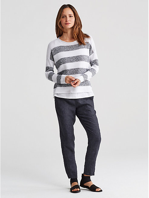 Organic Linen Knit Stripe Top