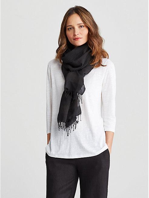 Handloomed Organic Cotton Stripe Wrap