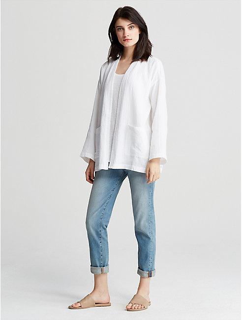 Organic Cotton Gauze Kimono Jacket