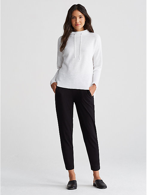 Organic Linen Cotton Funnel Neck Sweater