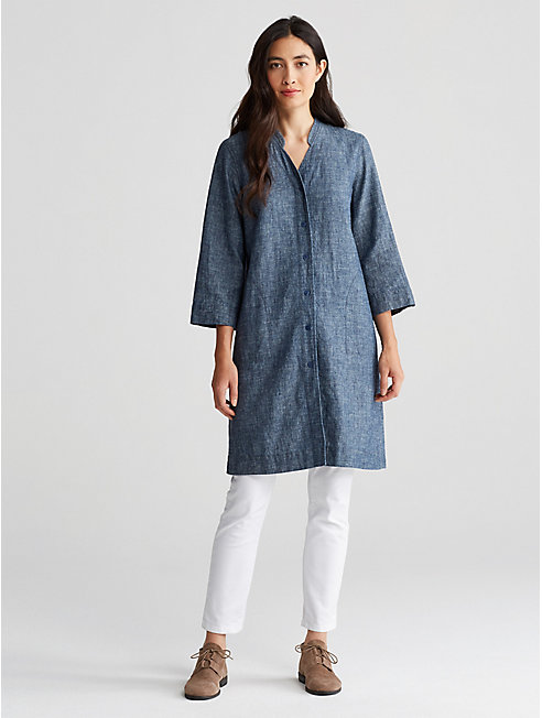 Hemp and Organic Cotton Chambray Dress