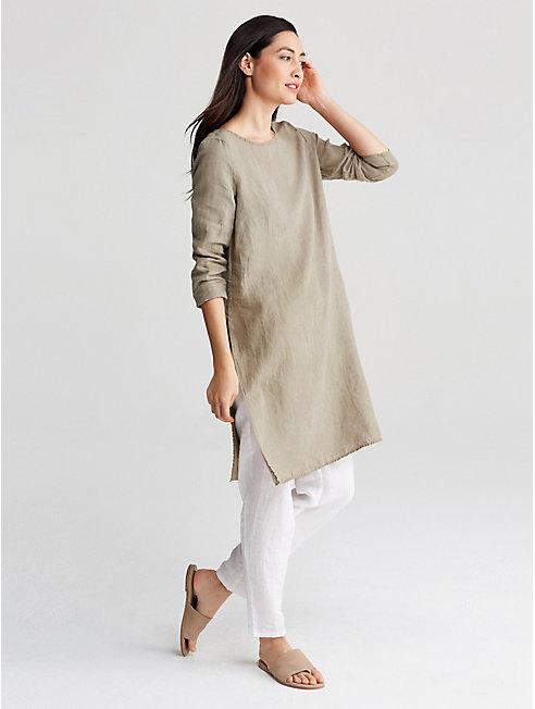 Exclusive Natural-Dyed Organic Linen Tunic