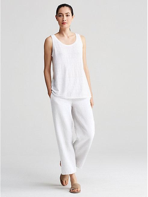 Heavy Organic Linen Straight Pant