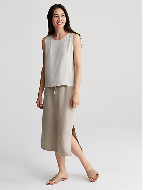 Heavy Organic Linen Skirt