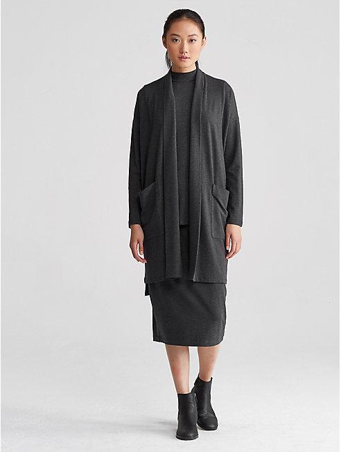 Cozy Tencel Stretch Kimono Coat