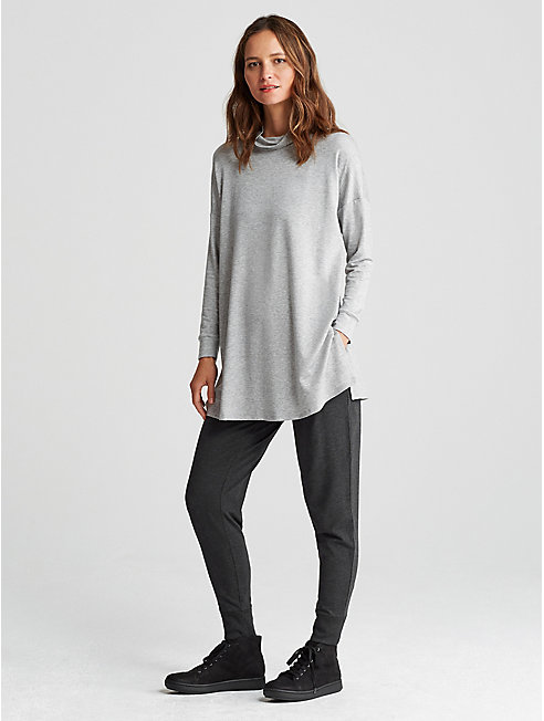 Cozy Tencel Stretch Slouchy Ankle Pant