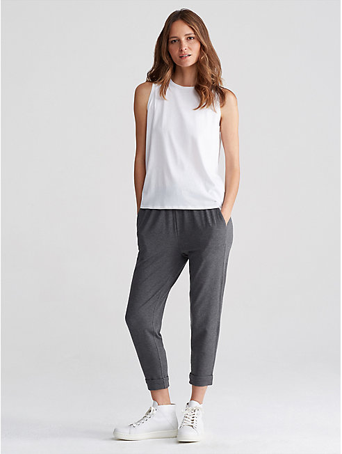 Cozy Tencel Stretch Slouchy Cropped Pant