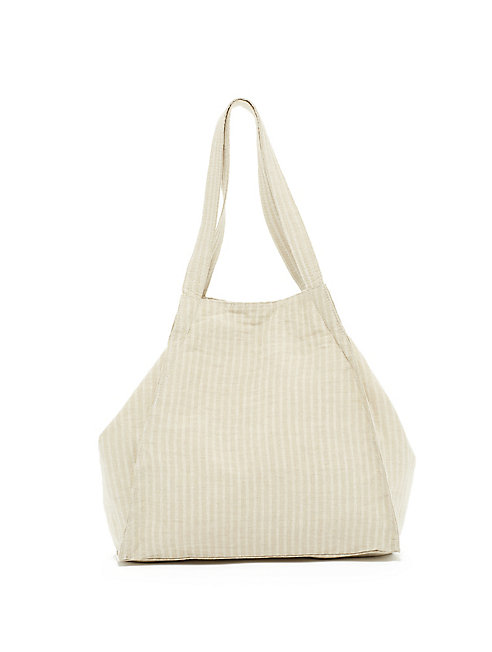 Irish Linen Stripe Trapeze Tote