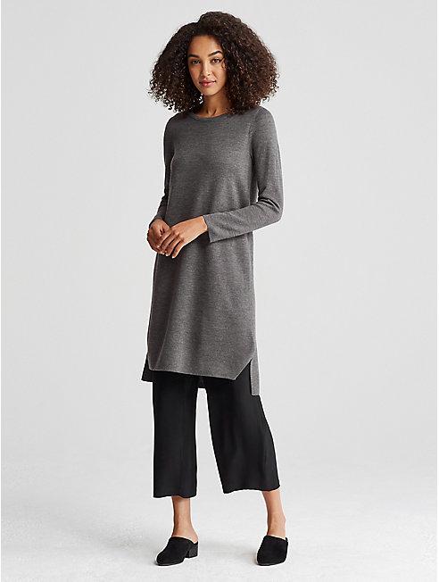 Merino Interlock Sweater Dress