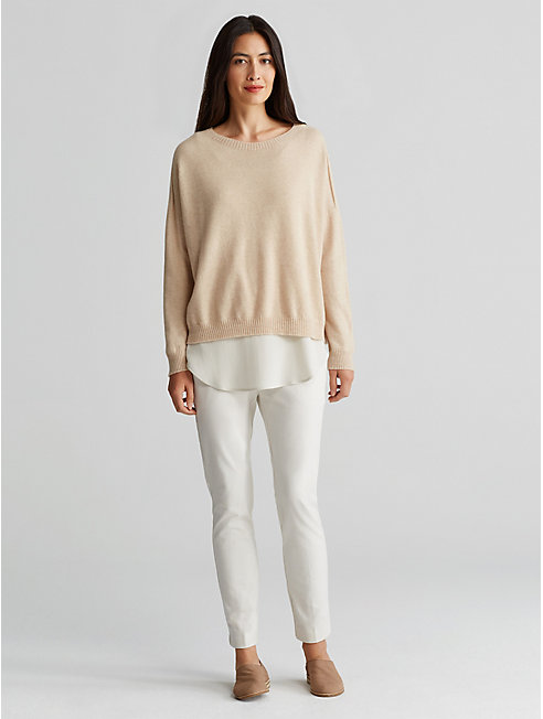 Seamless Undyed Cashmere Box-Top