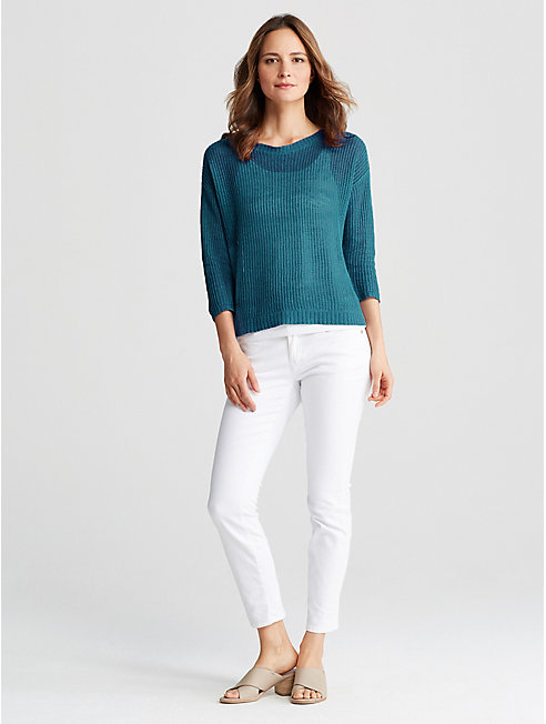 Organic Linen Knit Box-Top