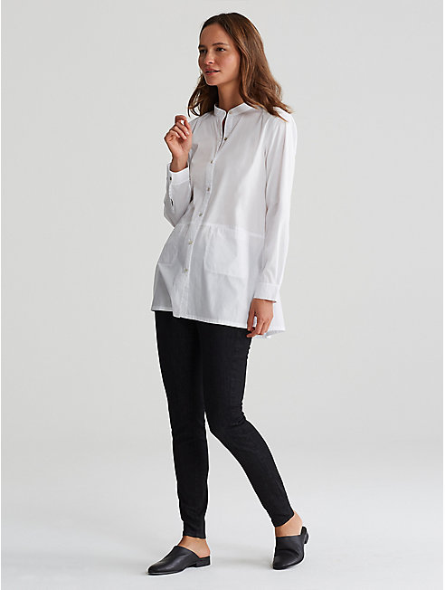 Organic Cotton Stretch Lawn Tunic Shirt