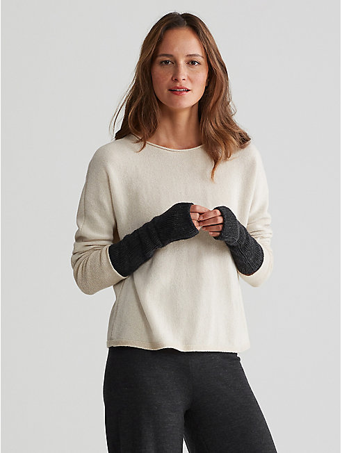 Exclusive Lofty Recycled Cashmere Glovelettes