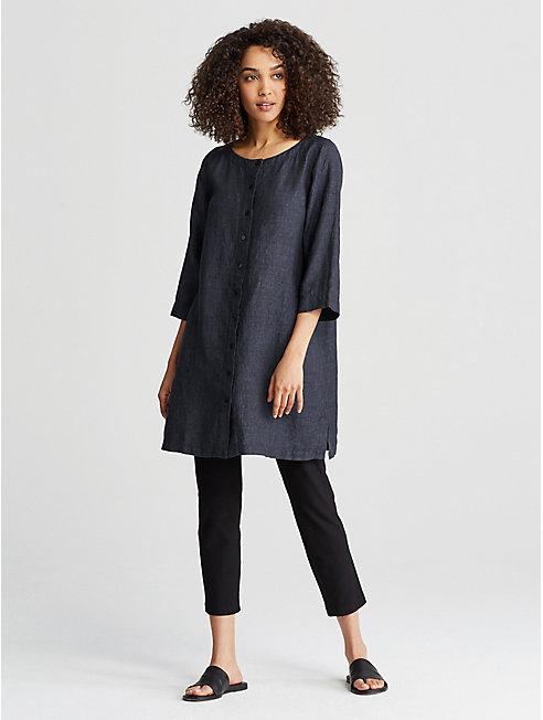 Organic Linen Delave Shirtdress