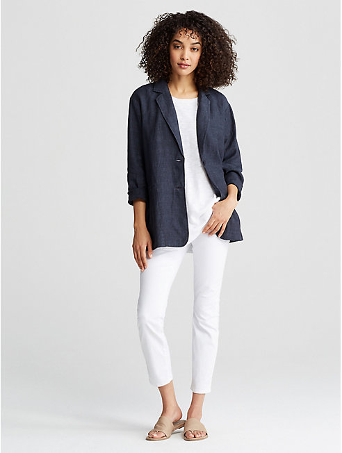 Organic Linen Delave Long Jacket