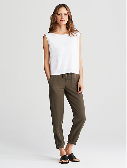 Tencel Twill Slouchy Pant