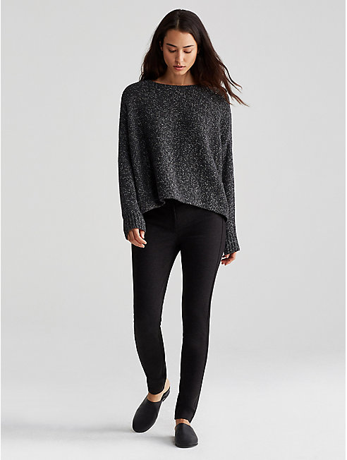 Cashmere Silk Tweed Cropped Box-Top