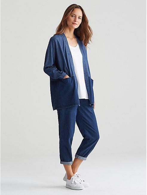 Tencel Organic Cotton Denim Kimono Jacket