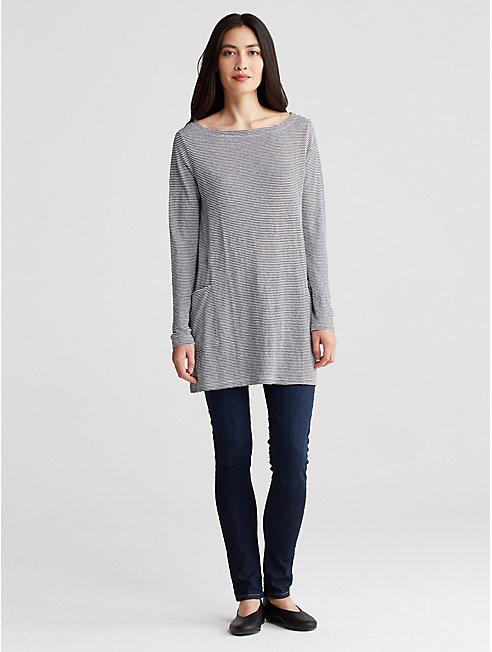 Organic Linen Jersey Ministripe Tunic