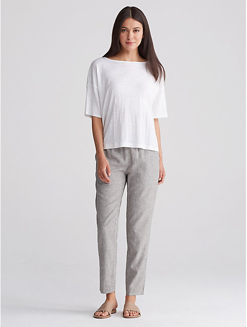 Hemp & Organic Cotton Stripe Slouchy Pant