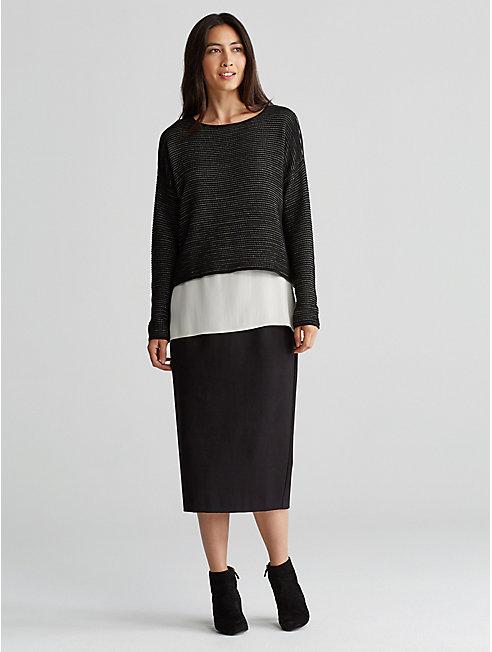 Silk and Organic Cotton Linen Box-Top
