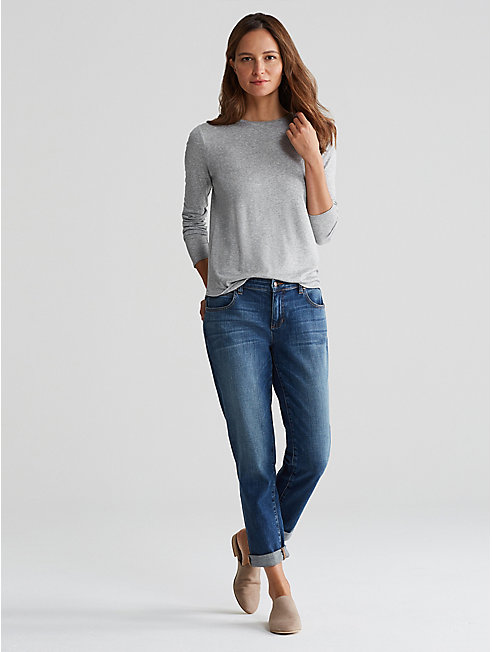 Micro Tencel Rib Slim Top