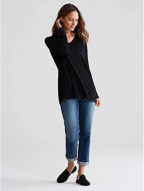 Plus Size Ultrafine Merino V-Neck Tunic