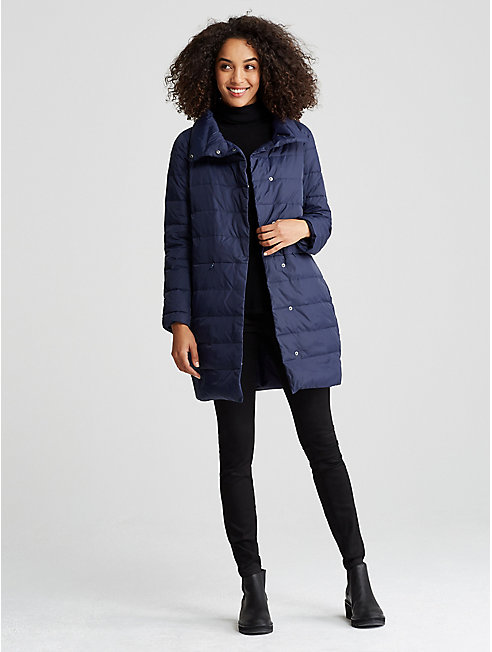 Weather Resistant Down Cocoon Coat