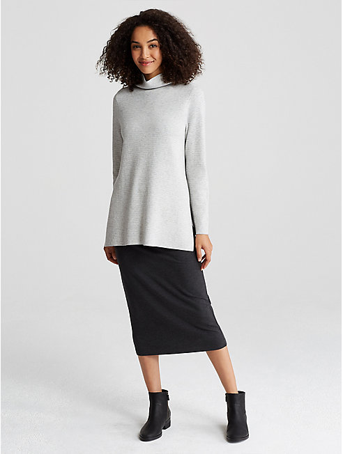 Reversible Organic Cotton and Cashmere Tunic