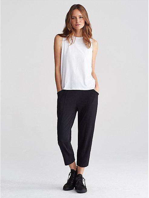 Organic Cotton Jersey Cropped Pant