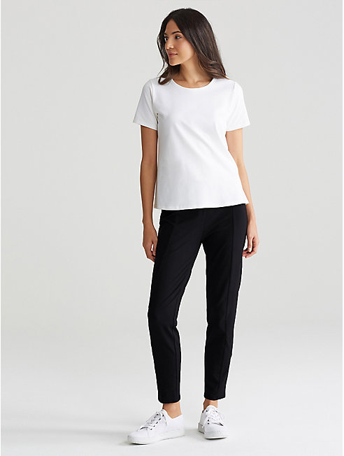 Organic Cotton Stretch Jersey Slim Ankle Pant