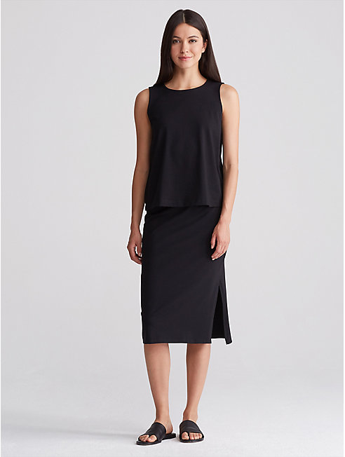 Organic Cotton Jersey Pencil Skirt