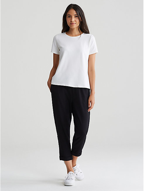 Organic Cotton Stretch Jersey A-Line Tee
