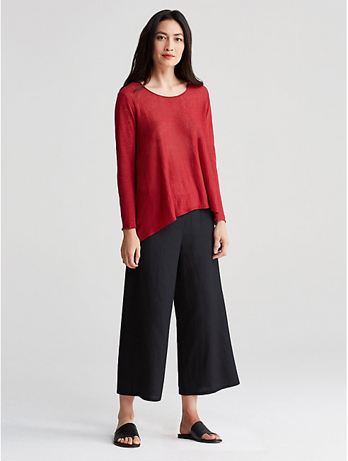Organic Handkerchief Linen Wide-Leg Pant
