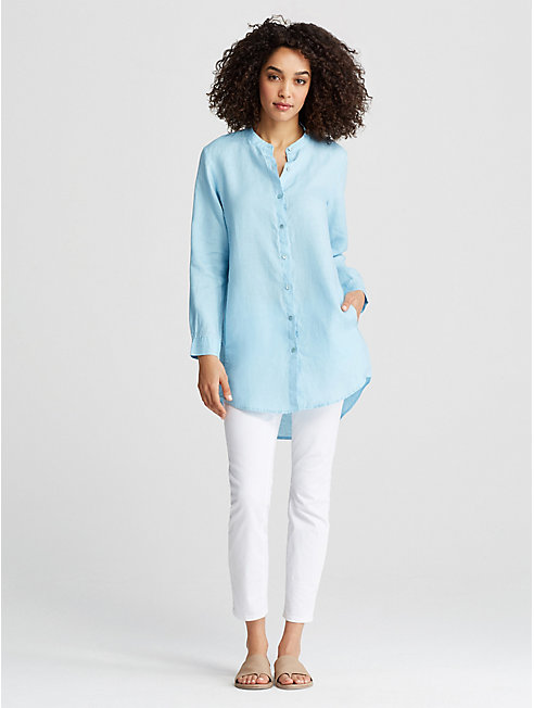 Organic Handkerchief Linen Long Shirt