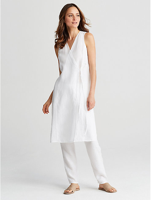 Organic Handkerchief Linen Wrap Tunic