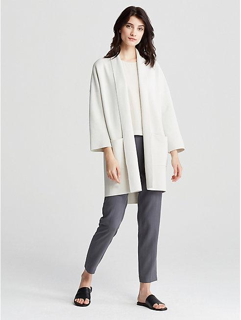 Silk and Organic Cotton Kimono Coat